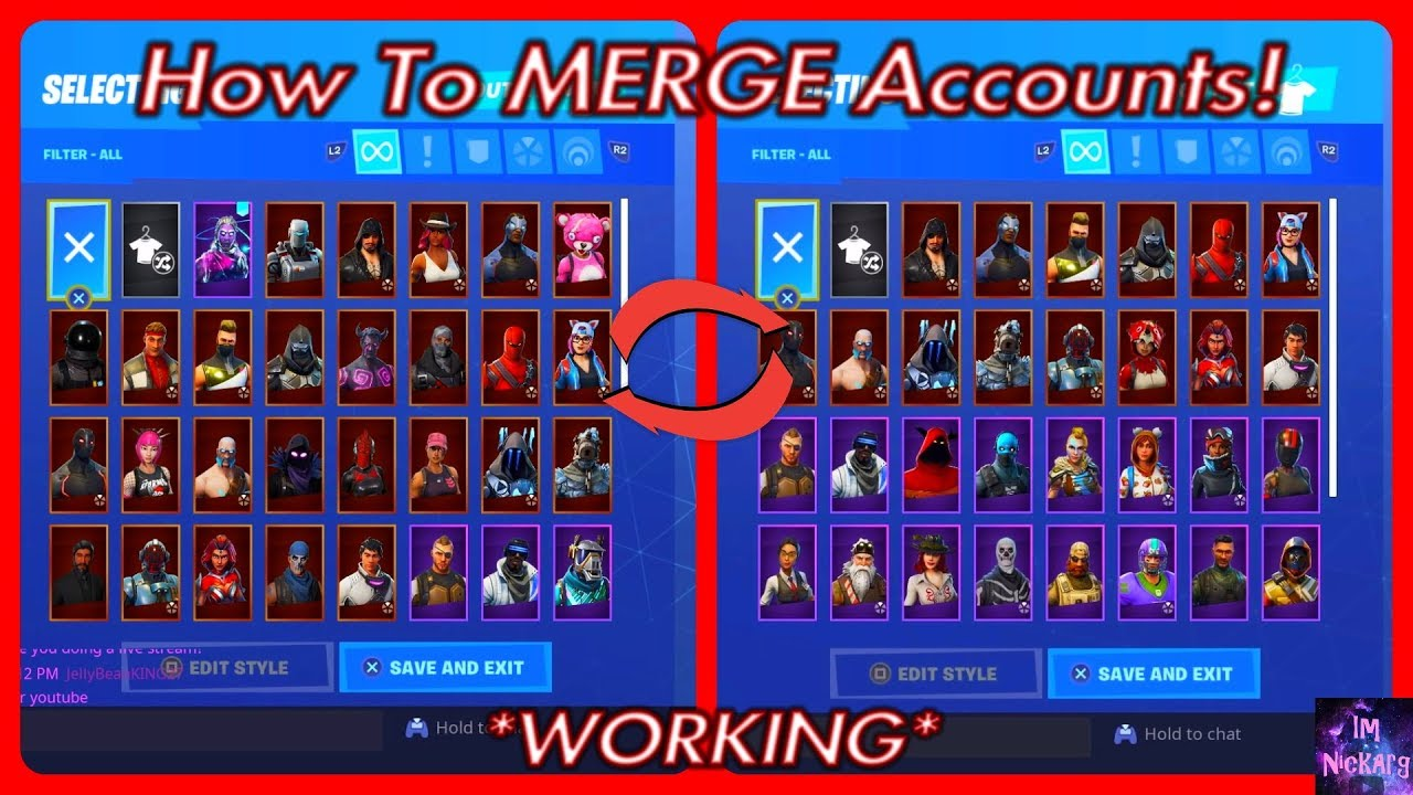How To MERGE ACCOUNTS In Fortnite Battle Royale! *OUT ...
