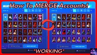 How To MERGE ACCOUNTS In Fortnite Battle Royale! *OUT RIGHT NOW*