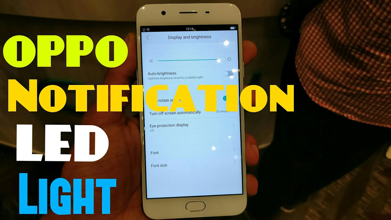 How to Switch On Notifications LED Light in OPPO A57 / OPPO PHONES