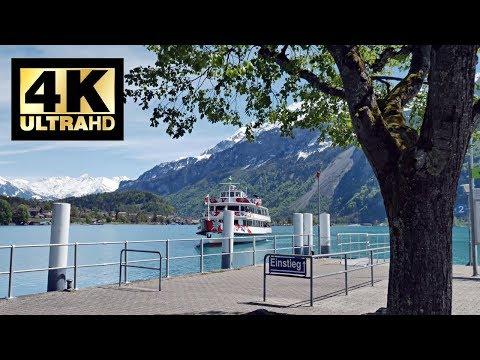 Amazing Lake Brienz Switzerland Boat Cruise From Brienz To Interlaken 4K UHD