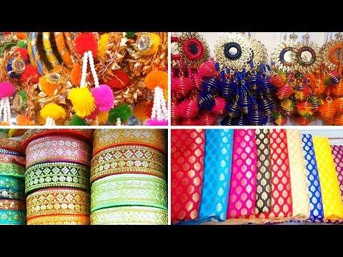Where to Buy Designer Fabric, Latkans, Borders in Delhi | Shopping at Lajpat Nagar, Delhi | #Vlog 1