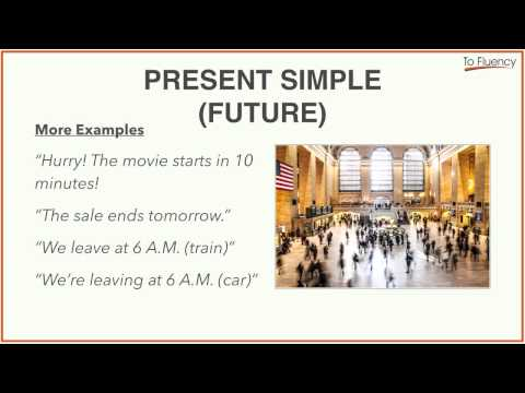 Using the Present Simple to Talk about the Future (And a Bonus Idiom)