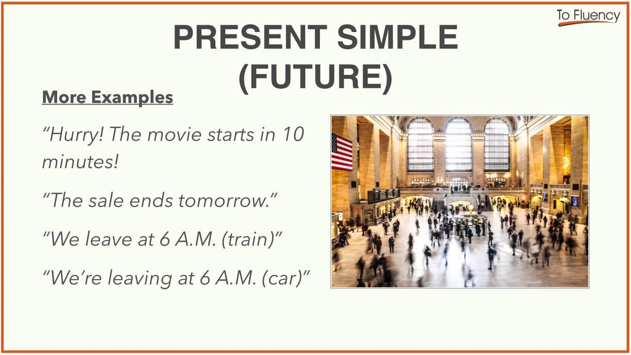 future simple examples