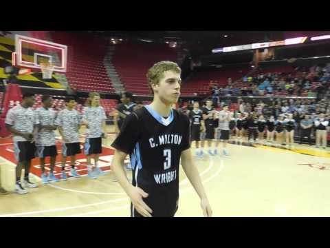 Awards ceremony C.M. Wright/Stephen Decatur boys basketball Class 3A state final 03/12/16