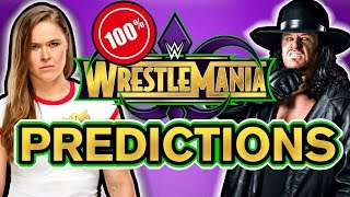 WWE WRESTLEMANIA 34 Predictions