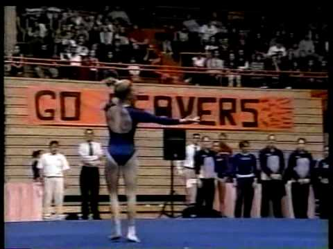 Kristin Parker - 2001 UCLA vs OSU Floor Exercise