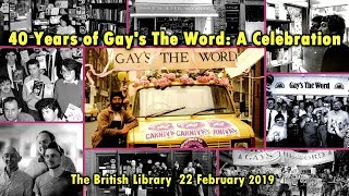 40 Years of Gay's The Word: A Celebration