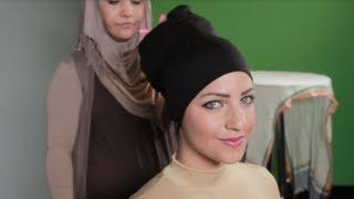 موديلات حجاب أفضل مع رباط الشعر أو القمطة