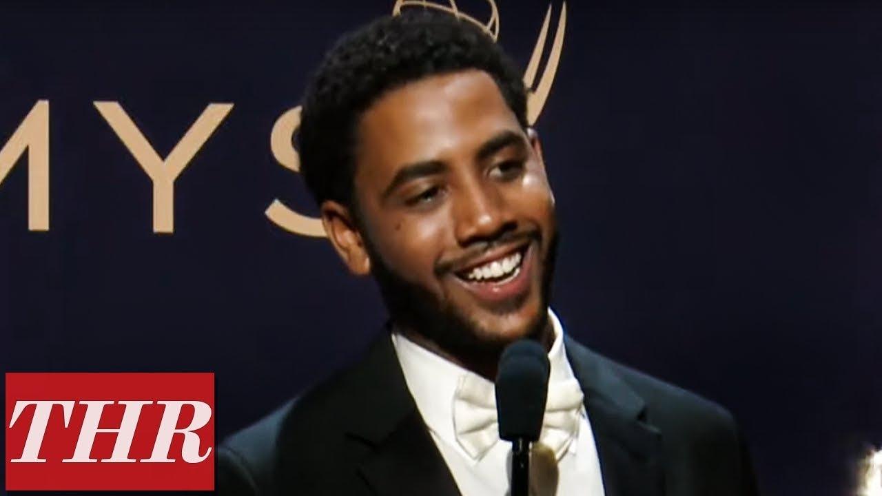 Emmy Winner Jharrel Jerome Full Press Room Speech | THR