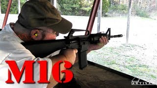 Shooting Dealer Sample M16 and Uziel Gal