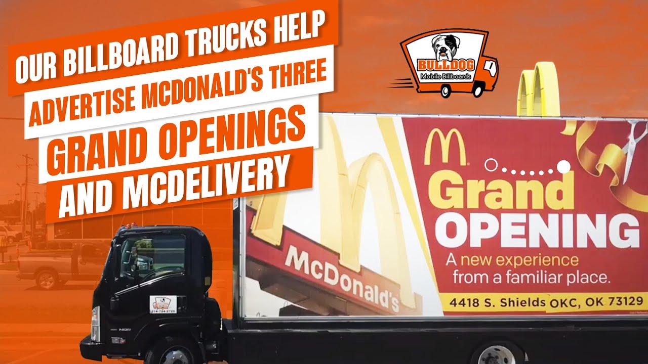 Bulldog Mobile Billboards McDonalds