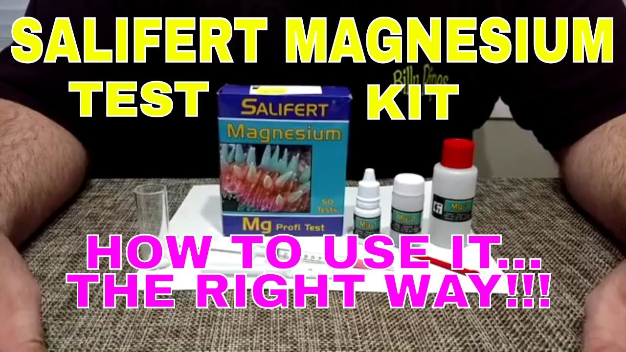 Salifert Magnesium Test Kit How To Use It The Right Way Youtube