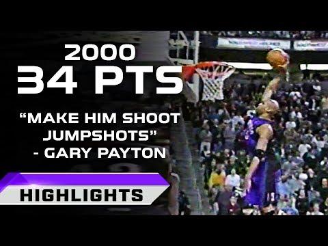 Vince Carter 34pts vs Seattle Supersonics - NBA ON NBC! (03.12.2000)