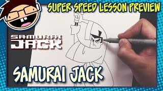 Lesson Preview: How to Draw SAMURAI JACK | Super Speed Time Lapse Art
