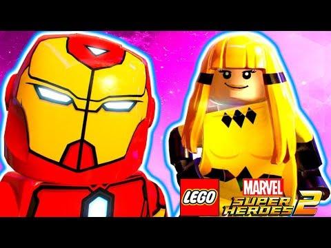 IRON HEART E CRYSTAL O PODER DAS MULHERES no LEGO Marvel Super Heroes 2 EXTRAS #68