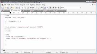 Beginner PHP Tutorial - 144 - Registration Form Part 1