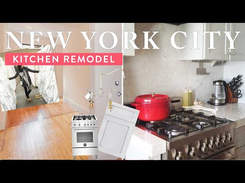 NYC KITCHEN TOUR | Our Small Kitchen Remodel + Galley Kitchen Design Tips! (Living in New York City)