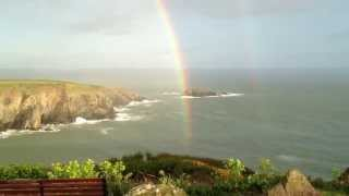 Double Rainbow Caerfai Bay Pembrokeshire st davids