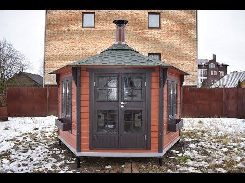 Беседка для дачи Гриль Хаус 9м2 от компании Грильландия.рф