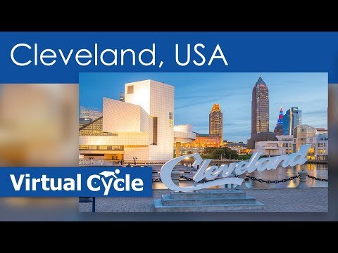 Virtual Bike Ride In Downtown Cleveland - Ohio - USA