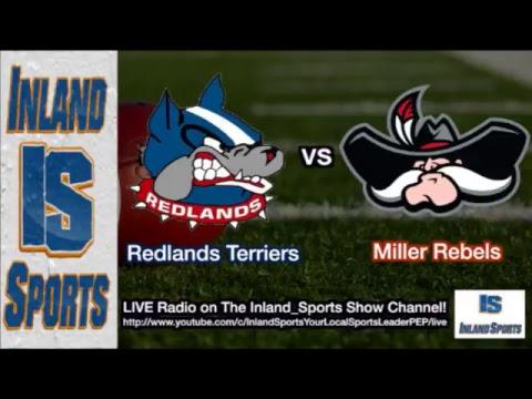 LIVE RADIO! Redlands vs. AB Miller Football (10-26-17)