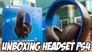 Unboxing PS4 Gold Wireless Stereo Headset, Excelente Design
