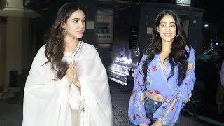 Sara Ali Khan IGN0RES Jhanvi Kapoor Again At Kedarnath Special Screening For Bollywood Celebs