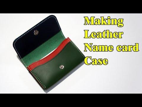 35 [Leathercraft] Making Leather Name card case / [가죽공예] 가죽 명함케이스 만들기 / Free Pattern