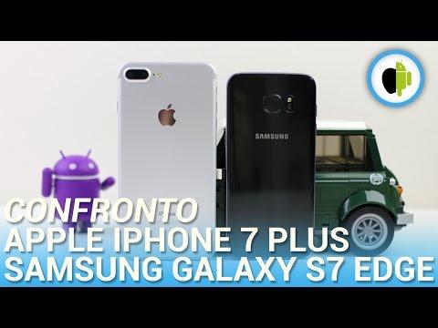 Apple iPhone 7 Plus vs Samsung Galaxy S7 edge, confronto in italiano
