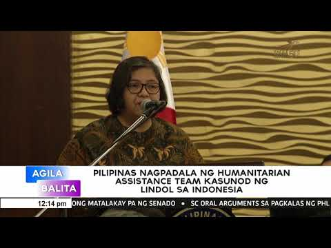PHL sends relief and humanitarian assistance to Indonesia to help quake victims