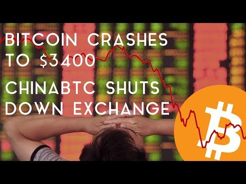 BITCOIN DROPS BELOW $3400 | ChinaBTC Announces Shutdown