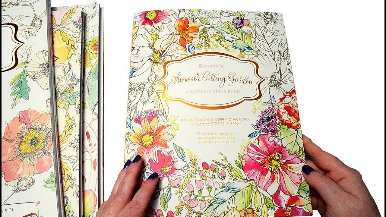 New Watercoloring Book by Kristy Rice Summer Cutting Garden Review ...