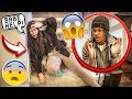 FALLING DOWN THE STAIRS PRANK ON GIRLFRIEND! *CUTE REACTION*