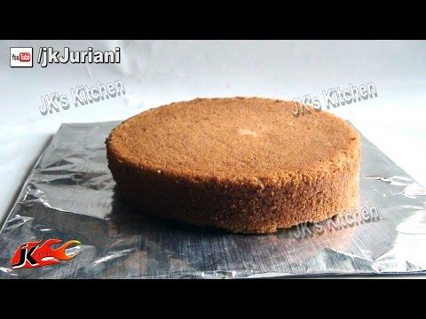 Basic Eggless Vanilla Cake Recipe - Veg Cake By JK's Kitchen 027