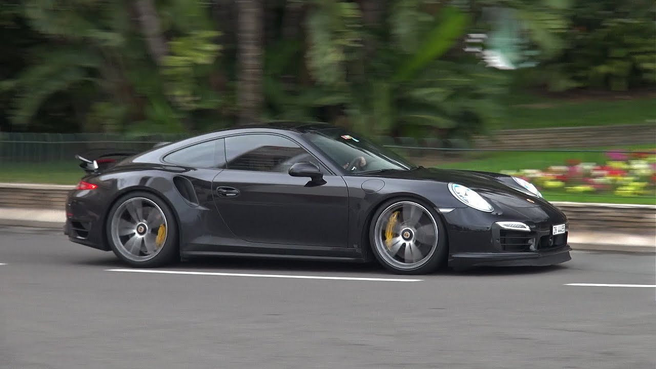 porsche 991 turbo s w techart wheels custom exhaust youtube. Black Bedroom Furniture Sets. Home Design Ideas