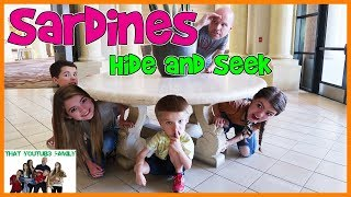 Sardines Hide And Seek At Huge Hotel Resort! / That YouTub3 Family