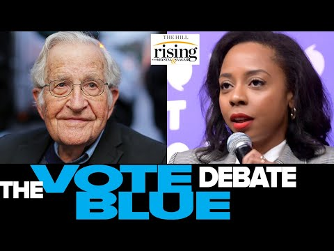 Krystal and Saagar: Noam Chomsky CHALLENGED On Vote Blue No Matter Who, Twitter Erupts
