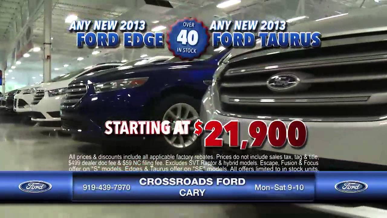 CrossRoads Ford Cary Red White U0026 You Cars REVISED 6 12 13