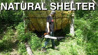 Bushcrafting A Lean-To Shelter