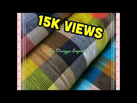 100% Pure Cotton Yarn Dyed Check Premium Quality Shirting Fabrics