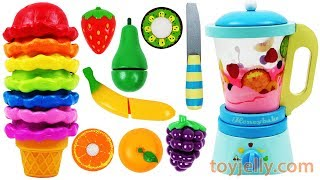 Learning Colors Best Video Paw Patrol Ice Cream Blender and Wooden Velcro Fruit Toys Nursery Rhymes