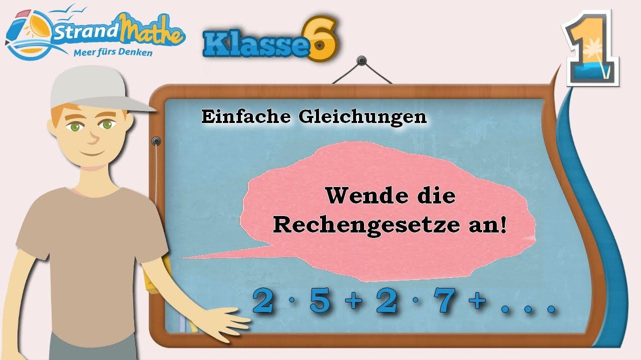 Einfache Gleichungen    Ganze Zahlen - Klasse 6 ☆ Übung 1 - YouTube