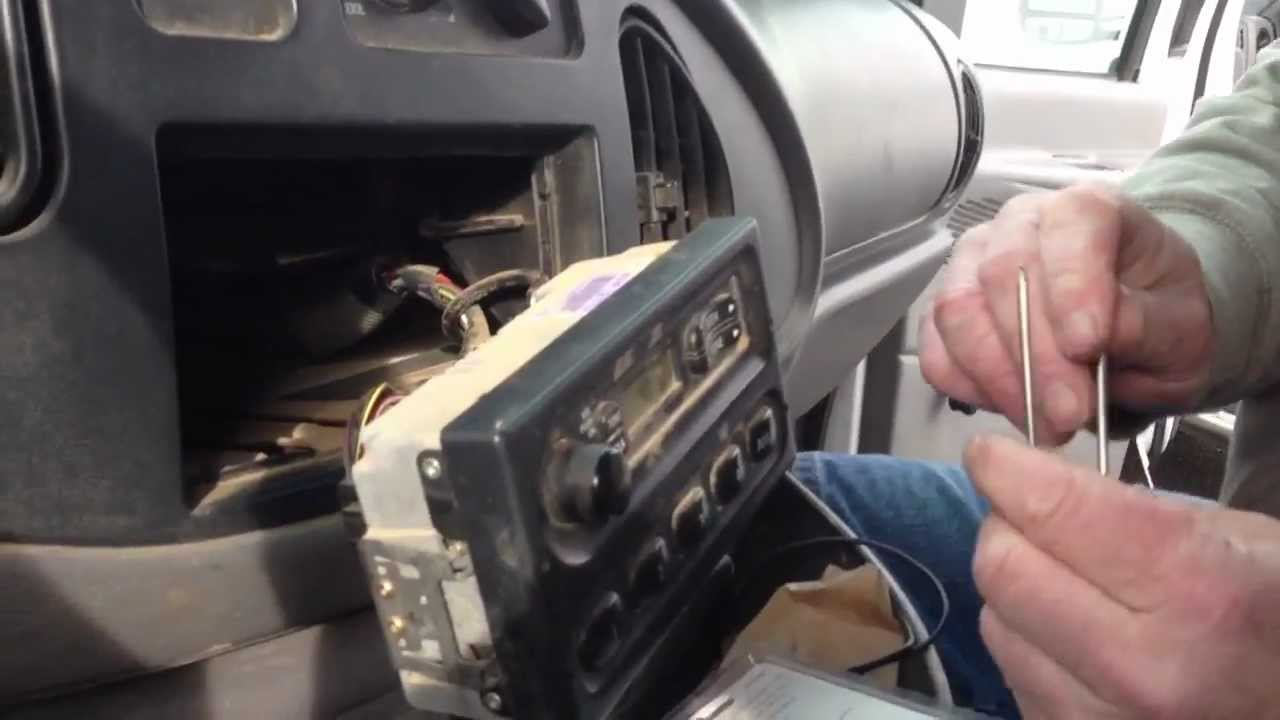 maxresdefault how to remove a radio from a ford econoline van youtube 1996 Explorer Radio Wiring Diagram at bayanpartner.co