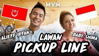 Baby Shima & Alieff Irfan Lawan Pickupline! Pickupline Kelate VS Pickupline Indonesia!