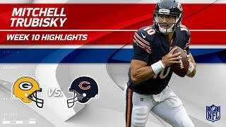 Mitchell Trubisky Tosses 297 Yards & 1 TD vs. Green Bay! | Packers vs. Bears | Wk 10 Player HLs