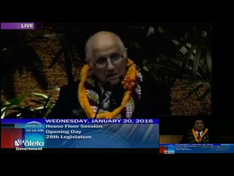 Hawaii State House of Reps 2016 Opening Day