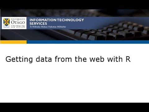 Getting data from the web with R