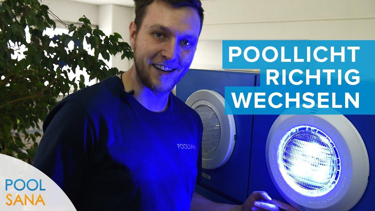 Pool Leuchtmittel Austausch - So wechseln Sie Ihren Scheinwerfer | POOLSANA