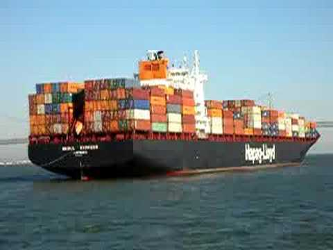 Hapag Lloyd container ship - SF Bay