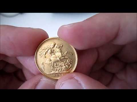 Gold British Sovereign Coin